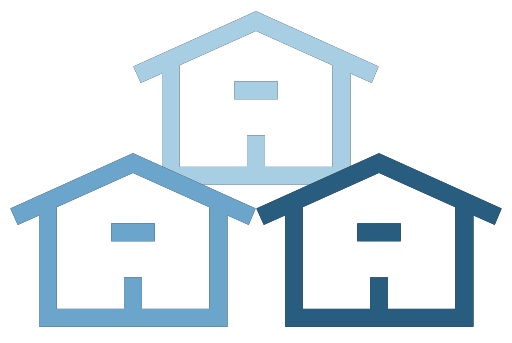 House Icons with blue color