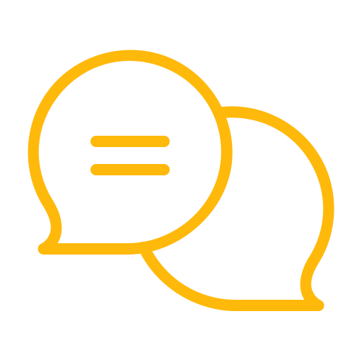 yellow message icons