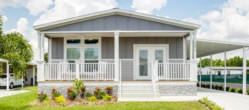 front of manufactured home